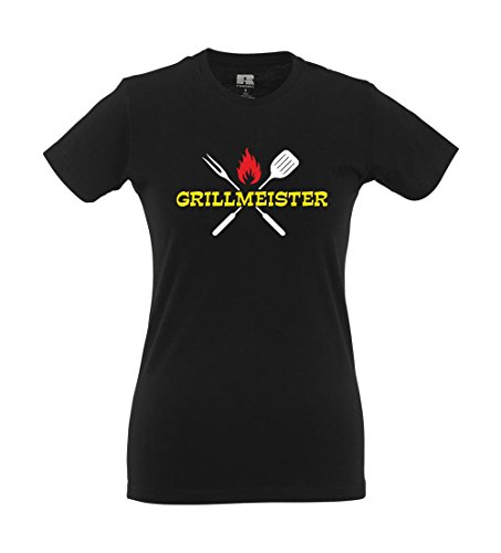 Girlie-Shirt - Grillmeister Schwarz