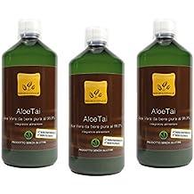 Offerta: 3 litri di succo di Aloe Vera da bere al 99,8% - 3 bottiglie da 1 litro - PRODOTTO ITALIANO