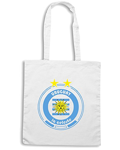 T-Shirtshock - Borsa Shopping WC0676 World Cup Football - Team Uruguay Bianco