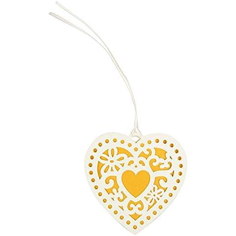 Sass & Belle - Etichette per regali in carta, cuore doppio, 10 pezzi, multicolore