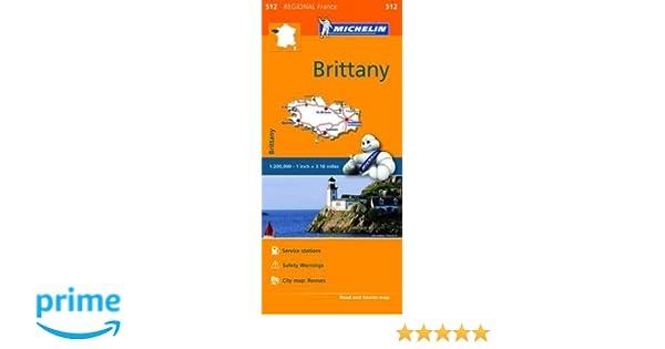 Brittany Michelin Regional Map 512 Michelin Regional