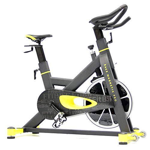 FitBike Indoor Cycle Race Magnetic Pro - 22 kg Schwungrad - Poly V-Riemen und Magnetisches Widerstandssystem - Mit SPD pedale - Spinning Fahrrad preisvergleich