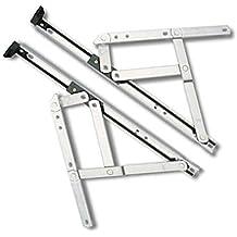 HomeSecure - Bisagras para ventanas (PVC rígido, longitud de 25,4 cm,