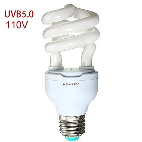 13w Pet Reptile UVB + UVA Plant Compact Fluorescent Calcium Supplement UV Lamp(5.0 110V)
