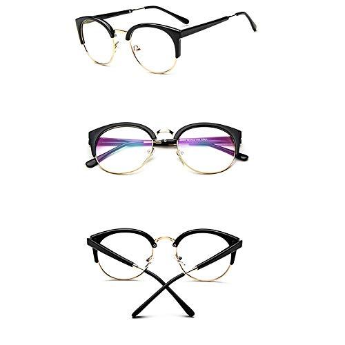 Siwen Neue Metall halb umrandeten Sonnenbrille Frauen männer transparent Leopard Sonnenbrille im freien einkaufen Kunststoff Brille,Schwarzes Gold