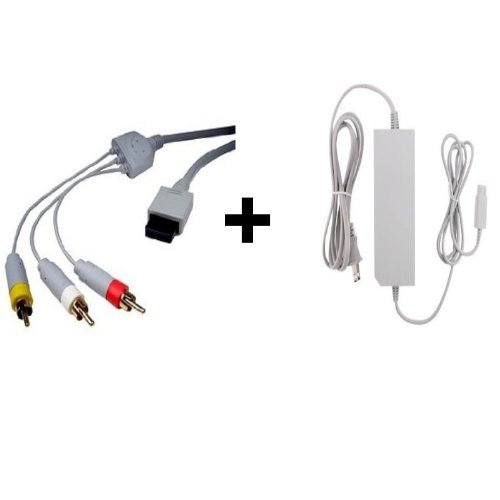 Aftermarket Wii Av Cable And Wii Power Supply