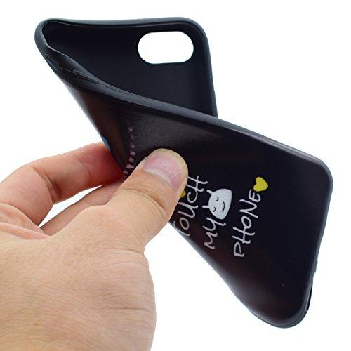 BONROY® Coque pour iPhone 7 Plus (5,5 Zoll),Housse en cuir pour iPhone 7 Plus (5,5 Zoll),imprimé étui en cuir PU Cuir Flip Magnétique Portefeuille Etui Housse de Protection BONROY® Coque Étui Case Cov Pet cat