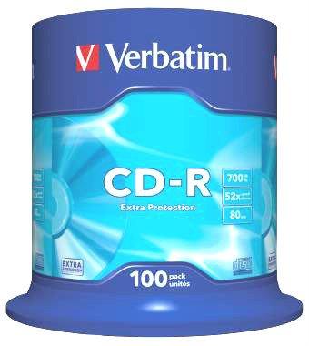 Confezione da 100 CD-R Verbatim 52x 700MB 80 mn !! (100)