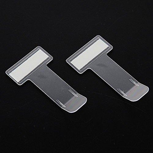 FGF-EU - 2 clip adesive trasparenti per parabrezza dell'auto, per esporre ricevute del parcheggio, passi