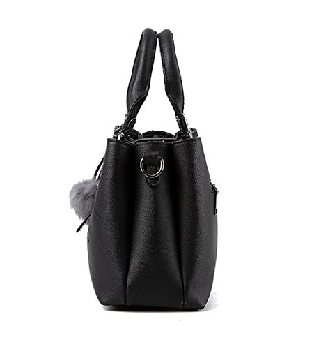 Flada, Borsa a tracolla donna viola Light Purple medium Black