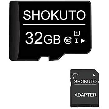 SHOKUTO Tarjeta SD, 32 GB, Tarjeta de Memoria Micro SDHC, Tarjeta TF + Adaptador SD Clase 10, U1