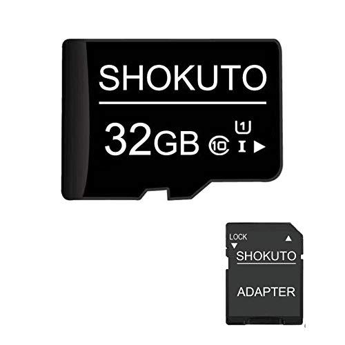 SHOKUTO Scheda SD, 32 GB, Scheda di Memoria Micro SDHC (Scheda TF) + Adattatore SD, Classe 10, U1