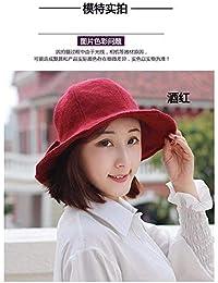 Oudan Cappello da Donna Ms cap Cappellino Invernale Cappello da Strega Cappello  di Lana Cappellino Foglia baa273efbef6