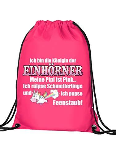 Golebros Ich Bin die Königin der Einhörner 5936 Turnbeutel (Pink)