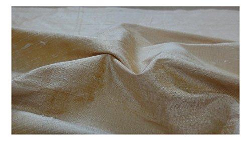 Fabrics-City BEIGE-GOLD DUPIONSEIDE 100%SEIDE STOFF SEIDENSTOFF STOFFE, 3383 -