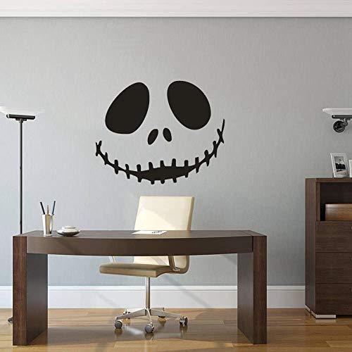 Graffiti Aufkleber Halloween Wandaufkleber Horror Lächeln Gesicht Wohnzimmer Wanddekoration Selbstklebende Malerei 44 * 35 Cm