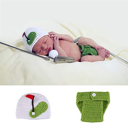 Golfer Mädchen Kostüm - ENCOCO Fotografie-Requisiten für Neugeborene, für Babys, Stricken und Fotografie, süßes Golfer-Stil