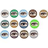 lentilles de couleur pour yeux foncés sombres fantaisie annuelles valables 1 an freshtone gris vert bleu marron violet sans correction (carribean aqua)