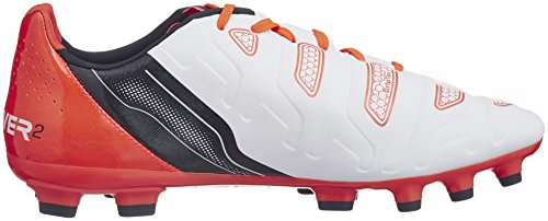 Puma Evopower 2.2 Ag, Chaussures de Football homme Blanc (White/Total Eclipse/Lava Blast)