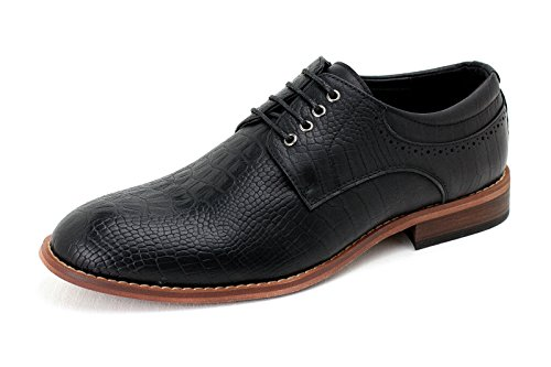 JAS da uomo NUOVO Oxford casual Scarpe eleganti coi lacci formale Derby UFFICIO matrimonio misura UK Nero