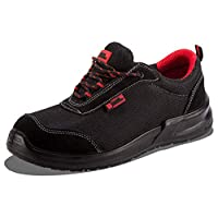 Black Hammer Mens Safety Boots Steel Toe Cap Work Shoes Ankle Trainers Hiker Protective Mid Sole S1P SRC 4482