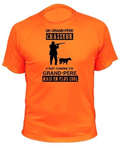 Tee Shirt Chasse Grand Père Chasseur Idée Cadeau (200, Orange, 12a)