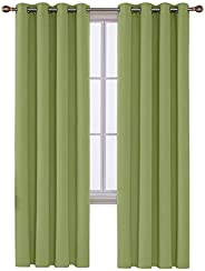 Deconovo Room Darkening Thermal Insulated Blackout Grommet Window Curtain For Living Room 52
