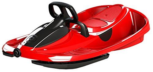AIRJOY Lenkbob Kunststoffrodel Schlitten Snow Champ Deluxe - Red