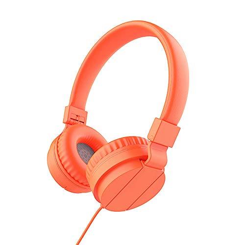PMWLKJ Deep Bass Kopfhörer Earphones 3,5mm Faltbare Portable Gaming Headset Für Phones Mp3 Mp4 Computer Pc orange Headset Portable Phone