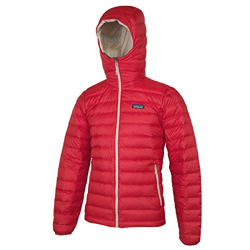 Patagonia Herren Daunenjacke Down Sweater Hoodie - - cochineal red
