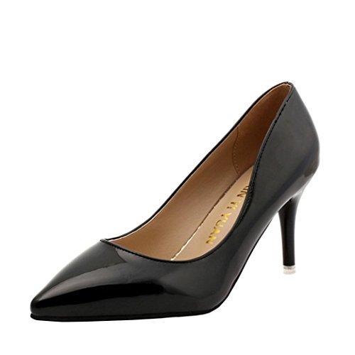 FEITONG Damen Klassisch Pumps Spitze Schuhe Stiletto high heels Herbst Büro Schuhe Hochzeit Brautschuhe - Western-stiefel Breite Breite Damen