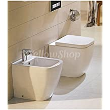 yellowshop sanitari bagno a terra pavimento filo muro mod klass vaso wc bidet e coprivaso soft close