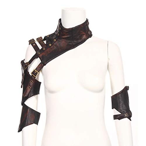 Guards Leder Kostüm Arm - Cvthfyky Steampunk Gothic Arm Strap Body Brustgeschirr Schulter Rüstungen Cosplay Metallnieten Zubehör Dekor Beefy und Aggressive Look Club Wear Kostüme (Size : L)