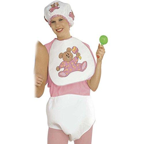 NET TOYS Mädchen Baby Kostüm für Erwachsene in rosa Babykostüm Karneval Kleinkind Outfit Verkleidung Fasching (Erwachsene Für Baby-outfits)