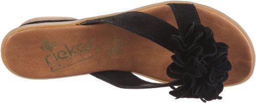 Rieker Lindsey 63491, Chaussures femme Noir 00