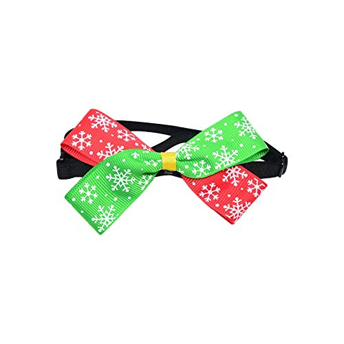 istmas Cute Safety Bow Tie Collars for Small Medium Cats Adjustable Soft Lovely Bowknot  for Kitten Puppy Dog Collar,Red and Green 2,S ()