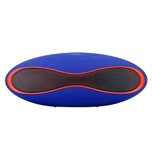 32 - Mejor Altavoz Inalámbrico Bluetooth Mini SUPER BASS Portátil para Smartphone Tableta Multifuncional Altavoz Bluetooth Portátiles, Extra Bass Tecnología y Driver Doble Envolvente Energía Móvil (Azul)