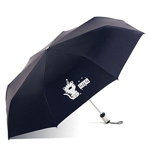 Umbrella Parasols Rain Gear zusammenklappbar Anti-UV-Taschenschirm Stilvolle und schöne UmbrellaRain / Folding Länge: 30cm & Gewicht: 380g & Durchmesser des Regenschirms: 101cm & starke UV-Beständigkeit: UPF50 +