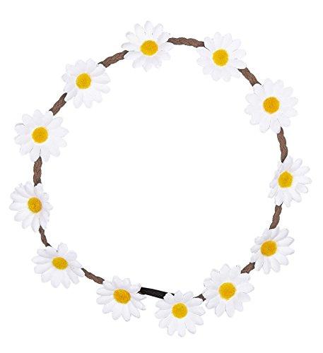Kostüm Out Peace Hippie - Hippiehaarband Blumenhaarband 70er Peace Flower Power Blumenkranz