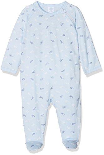 Sanetta Baby-Jungen Schlafstrampler 221386, Blau (Light Blue 50137), 80