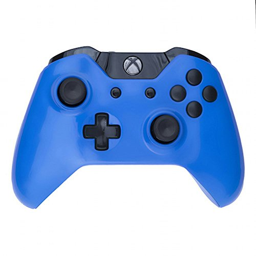 Mod Freakz Custom Series Xbox One Controller Shell/Buttons Electric Blue With Black Buttons (No 3.5 Port)