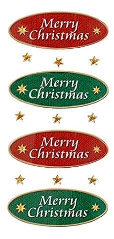 Rössler 9002–1121Merry Christmas losenges Aufkleber (4Stück)