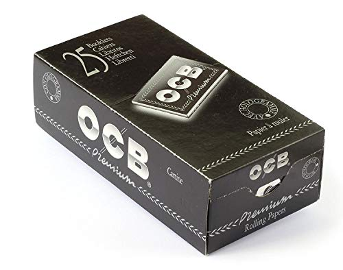 Ocb Nera Premium Doppia Cartine Corte Scatola 25 pacchetti doppi