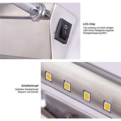 Luminaire Salle de Bain Lampe Avec interrupteur Lampe Miroir LED 5W ...