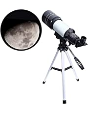 Mixen Kids Telescopes, Manfore 150X Science Astronomical Telescope with Tripod and 2 Magnification Eyepieces, Kids Science Telescope Educational Learning Toy for Sky Star Gazing & Birds Watching