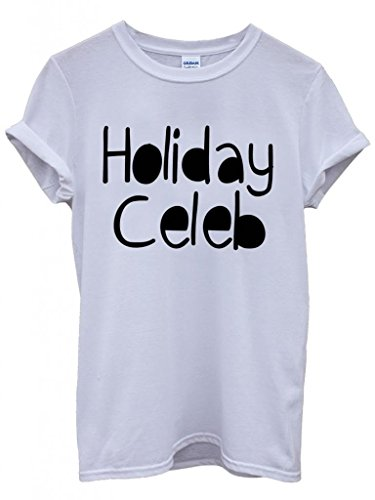 Holiday Celeb Summer Cool Funny Hipster Swag White Weiß Damen Herren Men Women Unisex Top T-Shirt Weiß