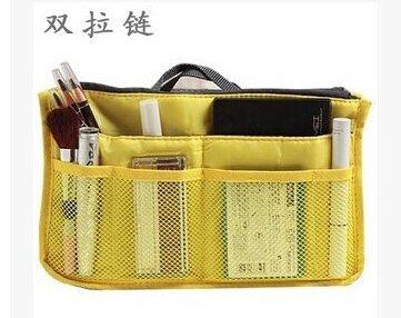 Natthom Handtaschen-Beutel-Beutel im Beutel-Organisator-Einsatz-Organisator-saubere Spielraum-kosmetische Tasche (Pink) yellow