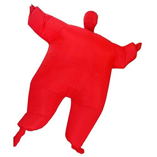 Lustige Rote Kostüm Aufblasbare - PU-FESTIVAL Erwachsener aufblasbarer voller Körperoverall Cosplay Kostüm-Halloween-lustiges Abendkleid-Explosions-Partei-Spielzeug Outfit Kostüm Kleid (Farbe : Rot, Größe : Einheitsgröße)