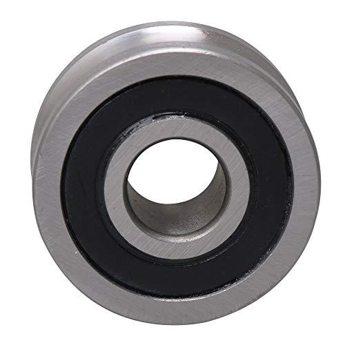 Rillentiefe 1,8 mm V Nut Führungslager Riemenscheibe Schiene Kugelrad 12 x 35 x15.9mm Silber