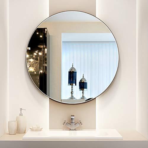 M-YN Wandspiegel, Nordic Fashion Rund Iron Art Wand-Badezimmerspiegel, Schminkspiegel 丨 Rasierspiegel 丨 Rasierspiegel Badezimmer Dekoration, Waschmetallspiegel (Size : 50cm)